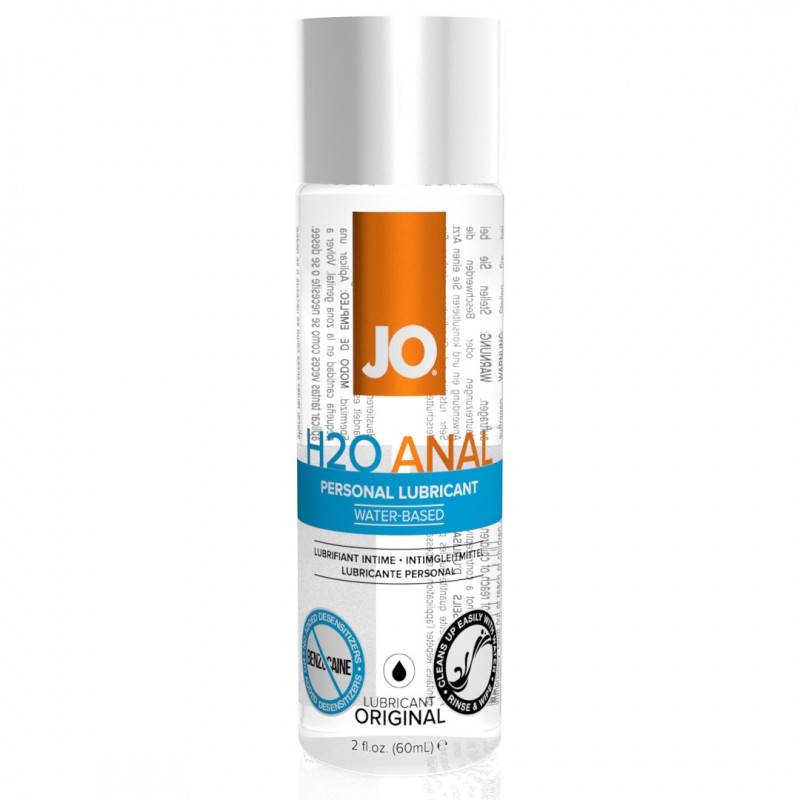 System Jo Anal H2O Water Based Anal Lubricant - 60 ml | 796494401118 | Anal Lubricants