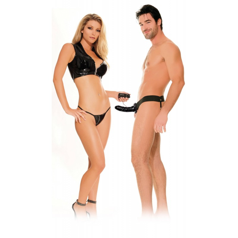 Vibrating Hollow Strap-On | 603912166361 | Strap Ons