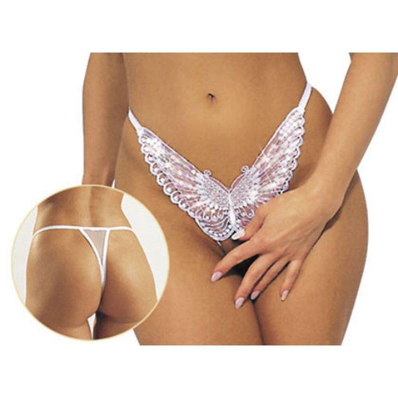 Butterfly - White | 4024144260263 | Crotchless Thongs
