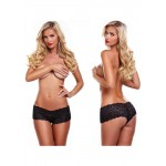 Black lace girls boxers with bullet | 726633976672 | Τάνγκα
