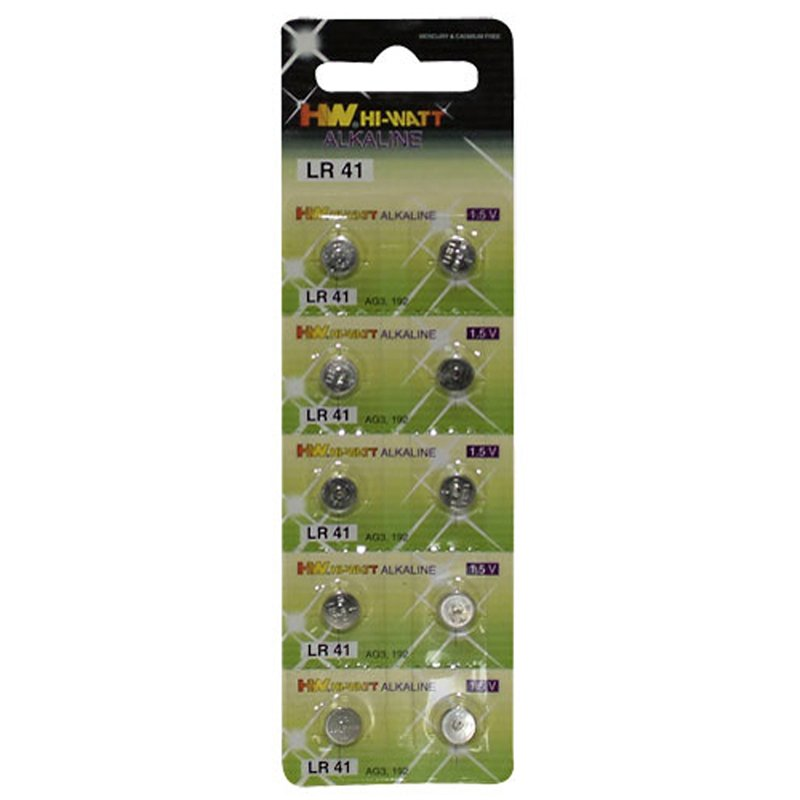 Button Cell 10-pcs LR41 | 4024144740673 | Batteries - Chargers