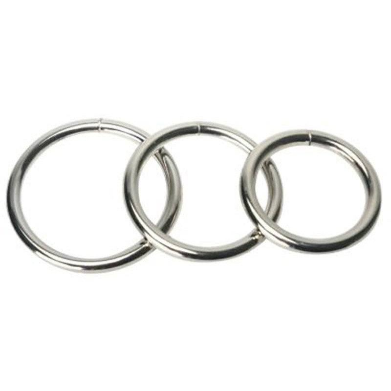 Trine Steel Ring Collection | 811847017546 | Metal Cock Rings