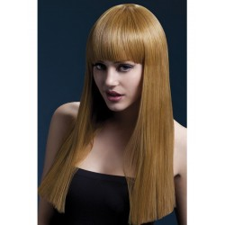 Fever Alexia Wig 19inch/48cm Auburn Long Blunt Cut with Fringe