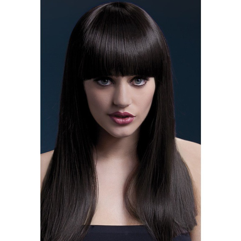 Fever Alexia Wig 19inch/48cm Brown Long Blunt Cut with Fringe | 5020570425794 | Wigs