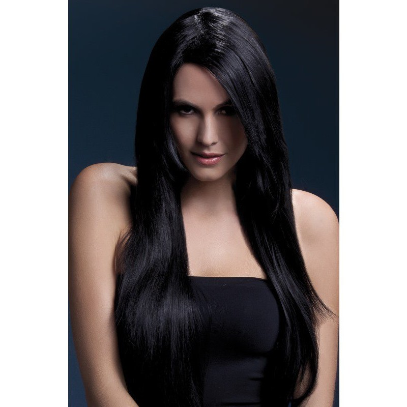 Fever Amber Wig 28inch/71cm Black Long Straight with Feathered Fringe | 5020570425336 | Περούκες