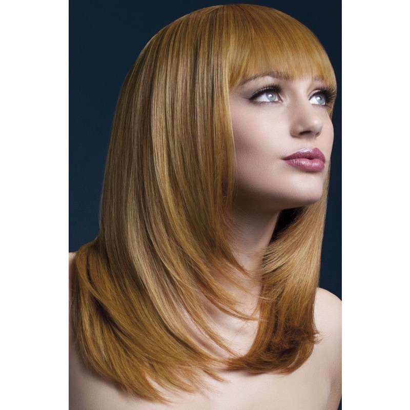 Fever Tanja Wig 19inch/48cm Auburn Feathered Cut with Fringe | 5020570425244 | Wigs