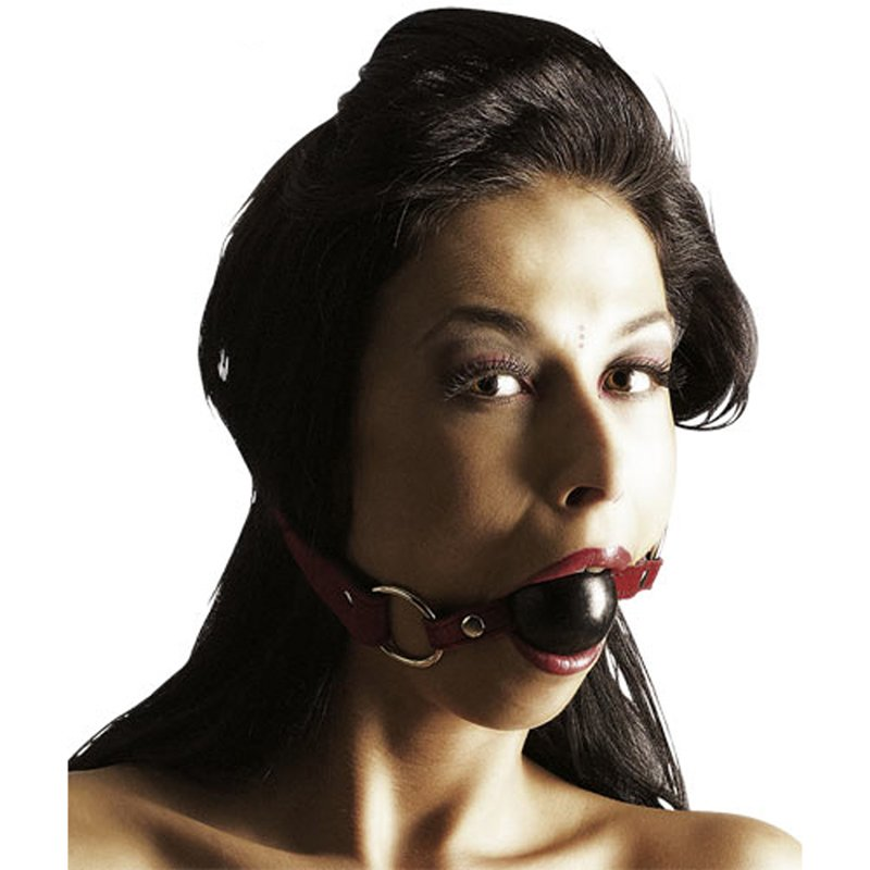 Leather Strap Black Ball Gag | 4024144012459 | Ball Gags