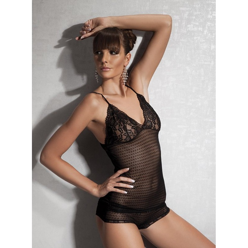 Fishnet Body With Lace - Black | 8697694804605 | Tops