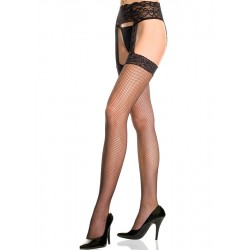 Fishnet Thigh High Stockings with Garter Belt