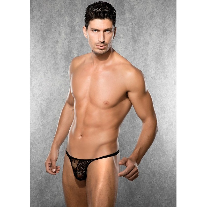 Lace String Black | 8697694155417 | Men's Thongs & G-Strings