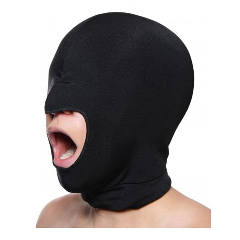 Blow Hole Open Mouth Spandex Hood | 848518012746 | Blindfolds & Masks
