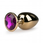 Metal Butt Plug No. 6 - Gold/Purple | 8718627525661 | Jewel Butt Plugs