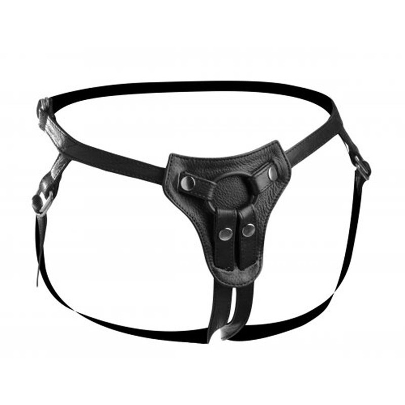 Premium All Access Leather Strap On Harness | 848518006479 | Strap On & Ζώνες