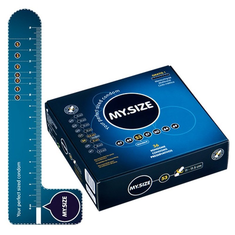 MY.SIZE 53 mm 36pcs | 4025838843656 | Regular Condoms