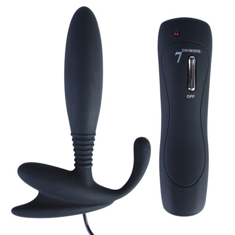 7 Speeds Silicone Anal Vibrator in Black Color | 6926426917149 | Anal Vibrators