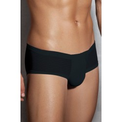 Semi Transparent Men's Briefs - Black