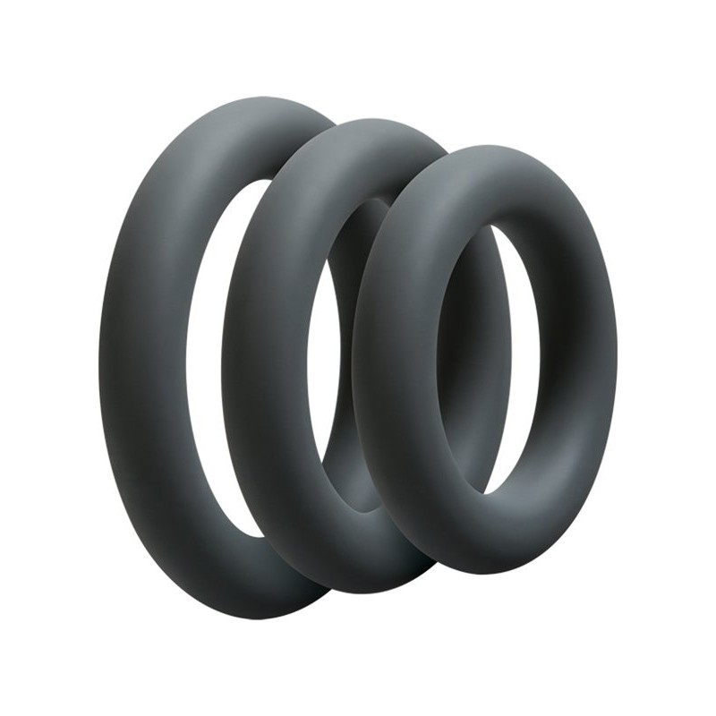 3 C-Ring Set - Thick - Slate | 782421019297 | Cock Rings