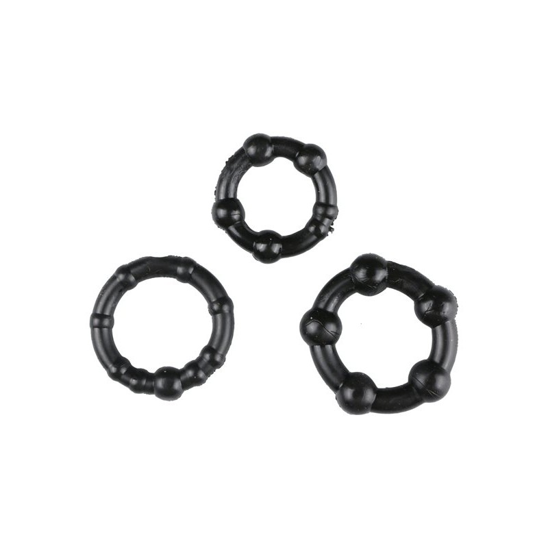 Black Performance Erection Rings - Packaged | 811847011599 | Cock Rings