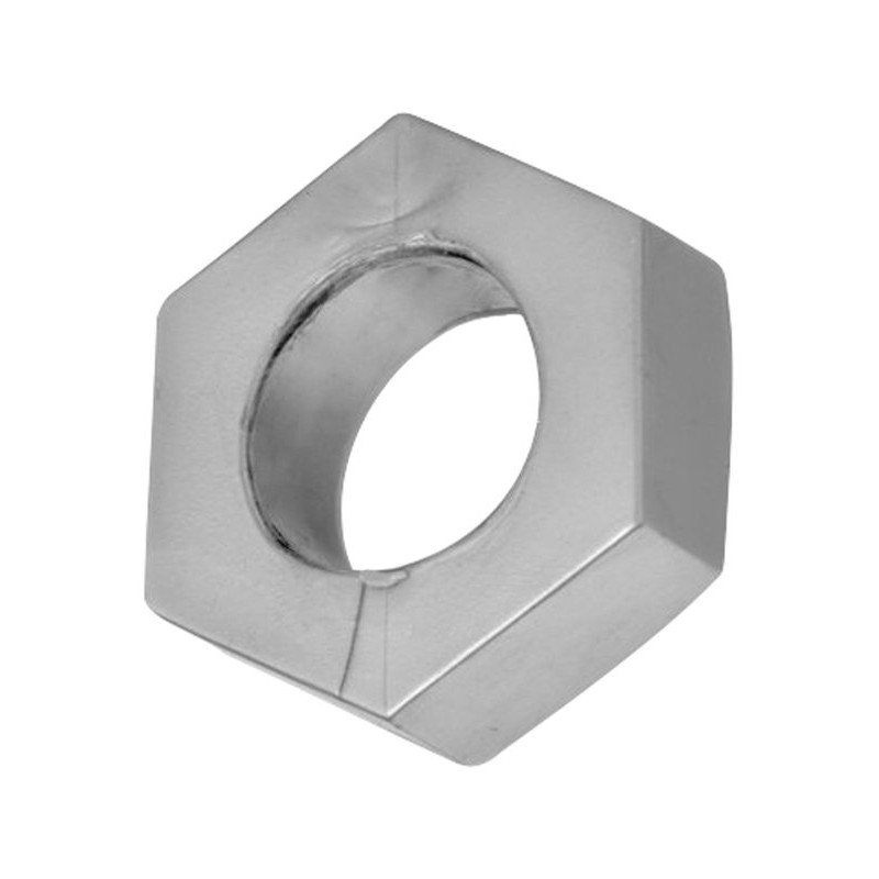 Silver Hex Heavy Duty Cock Ring and Ball Stretcher | 848518013873 | Ball Stretchers