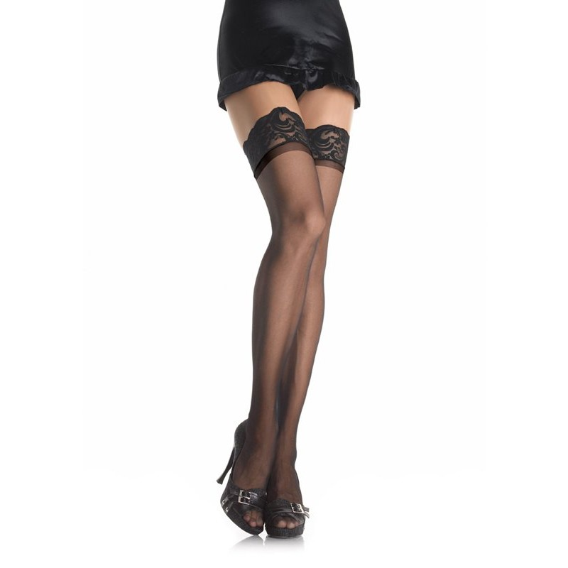 Stay Up Sheer Thigh Highs - Black | 714718001760 | Κάλτσες
