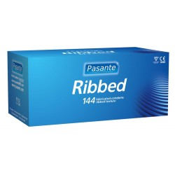 Pasante Ribbed condoms 144 pcs