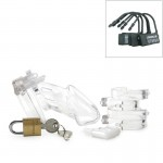 CB-6000 Chastity Cage - Clear - 37 mm | 094922298515 | Chastity Devices - Ζώνες Αγνότητας