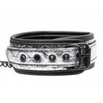 Platinum Bound Chained Collar with Leash | 848518019875 | Collars